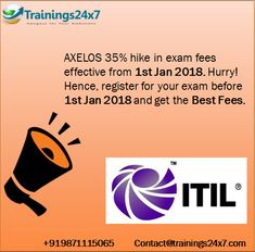 #ITIL Hike Fee After 1 Jan 2018. Hurry to Join our 1 day #classroom #training