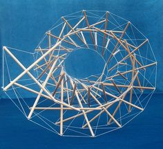 Some words to describe this structure: tensional integrity, floating compression, architecture of life Concept Models Architecture, Art And Architecture, Spiral Model, Structural Model, Geometric Construction, Elements And Principles, Parametric Design, Steel Sculpture, Installation Art
