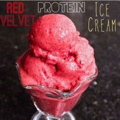 Ripped Recipes - Red Velvet Protein Ice Cream - Who knew you could have ice cream at any time of the day, guilt free!?!?!? (and with a normal serving size) :)