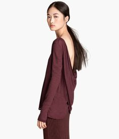 Draped Top | H&M US (I love having my hair up when I wear this top)