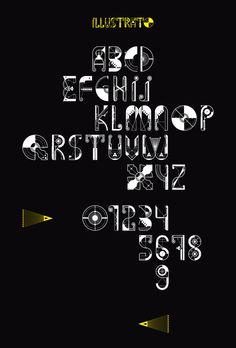 ILLUSTRATO_typeface by Jorrit van Rijt, via Behance