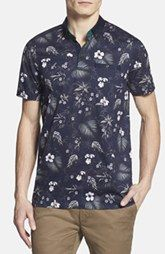 Ted Baker London 'Normat' Floral Print Polo