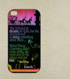 Disney princess, Cinderella quotes Iphone 4 case, iphone