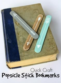 Rock Paper Feather: Quick Craft: Popsicle Stick Bookmarks