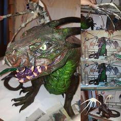 Dragon wings in progress 😍 I love that kind of work  #handmade #instagood #pappmache #art #artistoninstagram #artstagram #artstalent #original #artist #liforaartforlife #photooftheday #bestoftheday #nofilter #beautiful  #dragon #dragonart #drache  #fimo #creativ #myfimo #staedtler Beautiful Dragon, Dragon Art, Wings, Artist, Handmade, Fimo, Craft Tutorials, Ghosts, Creative