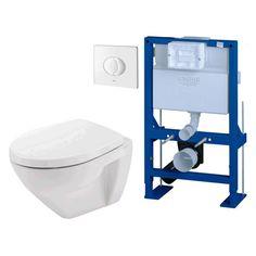 Amazing Pack WC Suspendu Faible Hauteur 82cm, Cuvette Courte 48cm Et Abattant  Soft Close GROHE