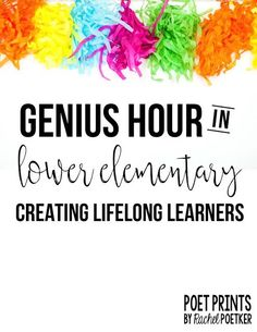 Last year, I did my very first Genius Hour in my third grade classroom. For those who have never heard of Genius Hour, it is a student-directed hour of independent projects that was based on Google's 80/20 philosophy of work. (More on that here, plus a great video to show parents and kids!). It g
