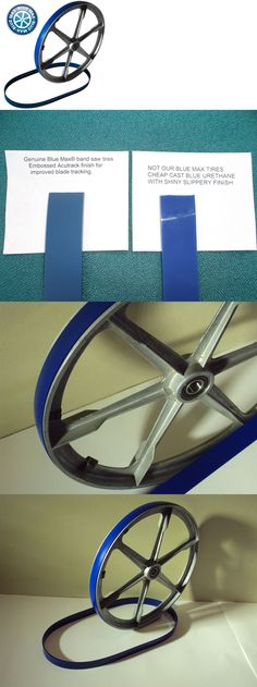 """2 BLUE MAX ULTRA DUTY 23/"""" X 1 1//4/"""" BAND SAW TIRES FOR 20/"""" BAND SAW"""