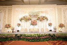 Romantic Javanese Wedding of Silmy and Arya Reception Stage Decor, Wedding Stage Backdrop, Wedding Backdrop Design, Wedding Stage Design, Rustic Wedding Backdrops, Wedding Stage Decorations, Wedding Wall, Wedding Ideas, Javanese Wedding