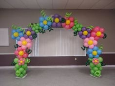 Balloon flower arch #balloonbackdrop #party