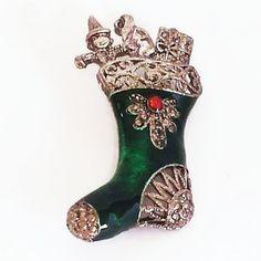 Christmas Brooch Santa Jewelry Christmas Pin Santa's by GoldDa #Christmas #etsy