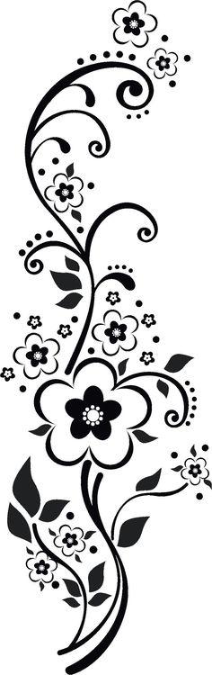 Узор для вазы в чёрно-белом  исполнении