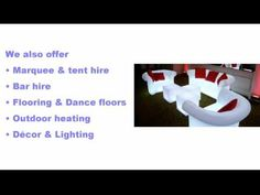 Best Event Furniture Hire in Johannesburg | t. 087 550 3169