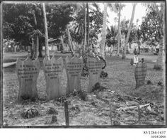85/1284-1437 Photographic negative, American graves, U.S.S. Philadelphia, gelatin / glass, photographer unknown, published by Kerry and Co., Upolu, Samoa, April - May, 1899 - Powerhouse Museum Collection
