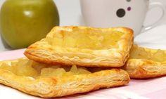 Pasteles de Hojaldre con Manzana y Piña