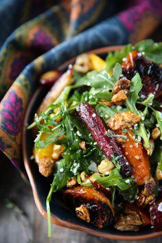 PaleOMG Roasted Beet & Carrot Salad with Honey Thyme Vinaigrette