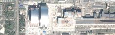I've been annoyed about both gmaps, and wikimaps showing area around reactor4 as white sheet of paper (even tho it's nowhere listed as one of those obscured geo spots), so, for the kicks, I went to yandex map, and lo-and-behold! Far more details! There are also two arks visible! That means they are nearly done? And there's only one chimney now, the smaller, newer one! Maybe google is waiting for 30th anniversary to update the imagery? I'm so pleased now.