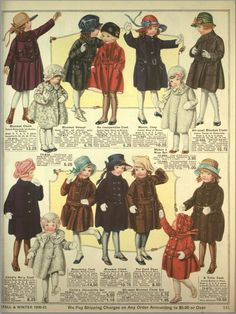 Eaton's Catalogue of Childrens Clothes (Plate 1 of – Fashion Illustrations - Children Clothes