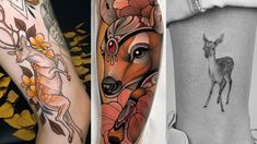 A collection of some of our favorite deer tattoos from talented tattoo artists around the world.