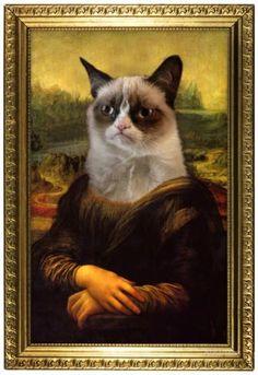 Grumpy Cat Mona Lisa Poster bei AllPosters.de