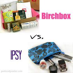 Anyone? Itsy, or Birchbox?  Subscription Boxes: Birchbox vs. Ipsy | Peek & Ponder