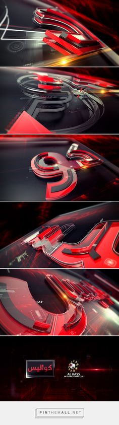 Opening Title - Alkass TV on Behance... - a grouped images picture - Pin Them…
