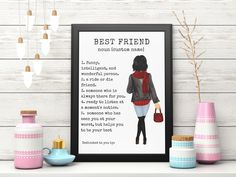Best Friend Gifts, Gifts For Friends, Best Friends, Best Friend Birthday, Sister Birthday, Personalized Wall Decor, Long Distance Friendship, Moving Away Gifts, Unique Birthday Gifts