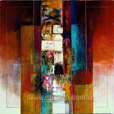 Cuadro abstracto al oleo