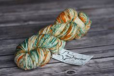 Hand Dyed Yarn, DK, Superwash - Ribbit