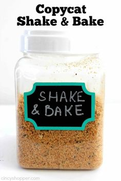 Copycat Shake 'N Bake Recipe - Season your pork or chicken with this do it yourself recipe for a fraction of the cost of store bought. Shake And Bake Pork, Homemade Shake And Bake, Shake N Bake Chicken, Homemade Dry Mixes, Homemade Spices, Homemade Seasonings, Recipe For Shake And Bake For Pork, Shake And Bake Copycat Recipe, Recipe For Pork