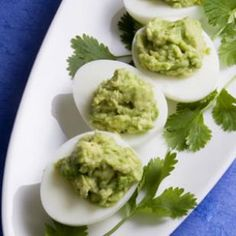 Guacamole-Stuffed Eggs, From EatingWell
