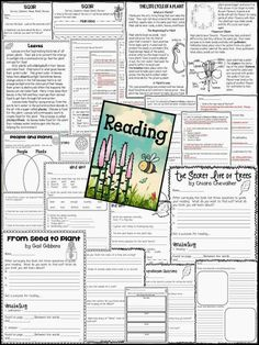 Plants: A Sprouting Extravaganza - Two close reads (Leaves, The Life Cycle of a Plant), Comprehension Guides, and MUCH more!!!