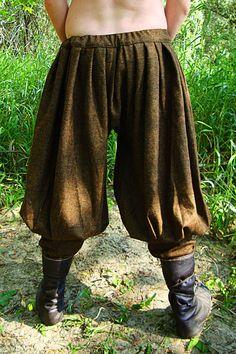 Vroege middeleeuwse Viking flodderige broek / door SlavMedievalShop