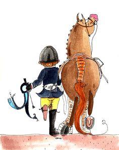 Of course.  Hunter Jumper Horse Art Print.  8 x 10 by DanasDoodles