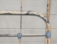 iron bed - crackle finish. GREAT tutorial to antique iron bed.