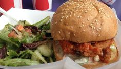 """Here's a spicy buffalo """"Westsider"""" from the Downtown Restaurant Chomp Chomp."""