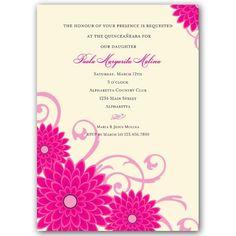 17 Quinceanera Invitations Wording Examples Pinterest