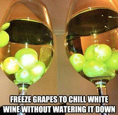 Chill your wine with the fruit of the vine! whyknows.com