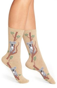 Hot Sox 'Climbing Koala' Pattern Socks
