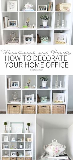 Bon Home Office Organization: How To Add Lots Of Storage To A Small Space
