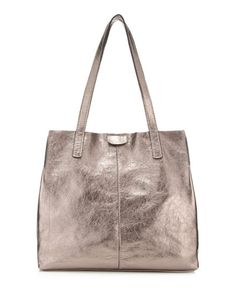 b55ad27bce syon-metallic-leather-tote-bag Metallic Leather