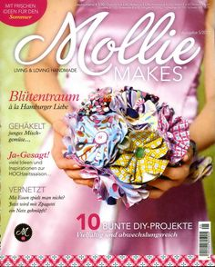 "ru / tymannost - Альбом ""Mollie Makes 05 DEU"" Cross Stitch Magazines, Cross Stitch Books, Knitting Magazine, Crochet Magazine, Mollie Makes, Sewing Magazines, Magazine Crafts, Crochet Books, Making 10"