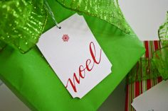 36 Hand Lettered Holiday Christmas Gift Tags - Calligraphy