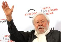 FILE - In this Friday, Oct. 23, 2015 file photo, Actor Paolo Villaggio poses for photographers during the photo call of the movie Fantozzi on the occasion of its 40th anniversary from its release in the movie theaters, at Rome's Film Festival, in Rome. Villaggio died at the age of 84 in Rome, Monday, July 3, 2017. (AP Photo/Riccardo De Luca, File)