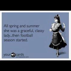 My football fan girlfriends can relate! Geaux Tigers!