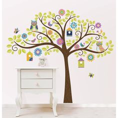 Hoot and Hangout Tree Kit Wall Decals - WallPops for Baby Peel and Stick Wall Art