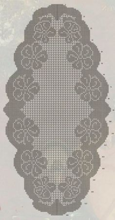 Kira crochet: Crocheted motif no. 351