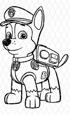 Paw Patrol Coloring Pages, Cute Coloring Pages, Free Coloring, Coloring Pages For Kids, Coloring Books, Cartoon Drawings, Easy Drawings, Paw Patrol Shirt, Paw Patrol Birthday