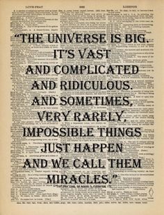 Whovian Quote Dr Who Universe and Miracles Victorian Dictionary Page Print Antique 1880 Book Gift Home Office Decor OOAK Unique Customize by VintagePatternHeaven on Etsy https://www.etsy.com/listing/173080083/whovian-quote-dr-who-universe-and