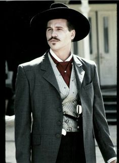 Val Kilmer as Doc Holliday in Tombstone O Cowboy, Cowboy Girl, Val Kilmer, Tombstone Movie, Tombstone Quotes, Tombstone 1993, Doc Holliday Tombstone, I Movie, Movie Stars